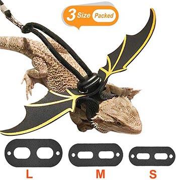 KUDES-Adjustable-Bearded-Dragon-Leather-Harness-Leash